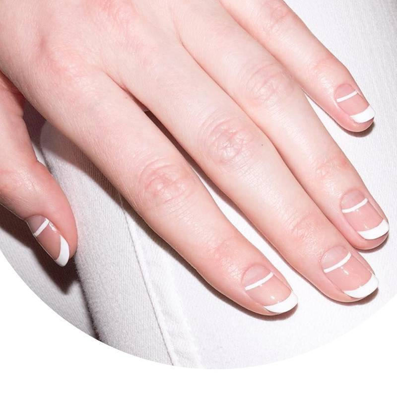 The Double French Manicure That's as Cool as it is Simple