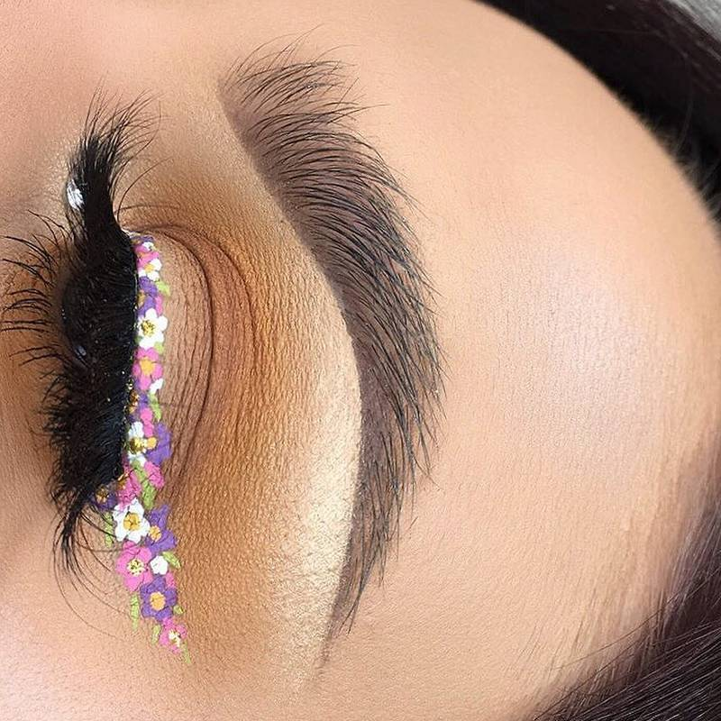 5 Floral Eye Makeup Looks That Are Actually Groundbreaking