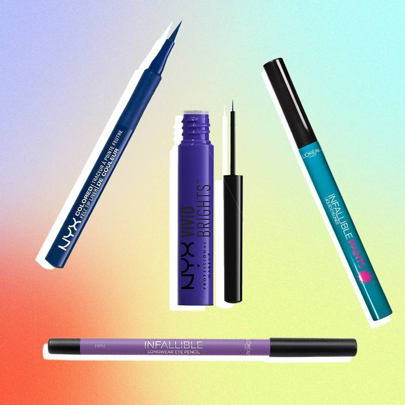 5 Best Drugstore Eyeliners in Every Color of the Rainbow