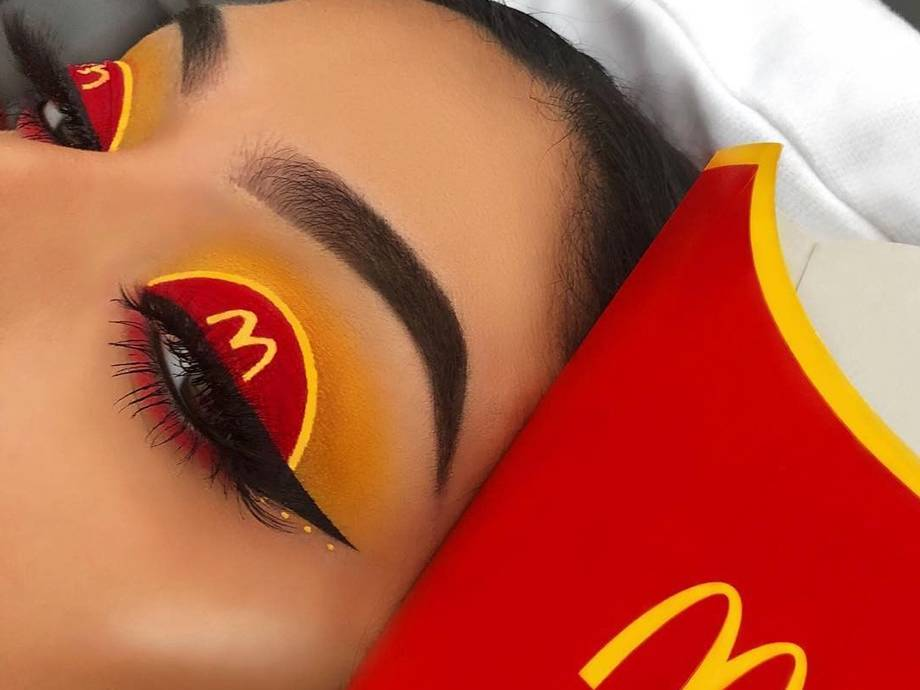 Our Thoughts On This Fast Food Makeup Look? We're Lovin' It