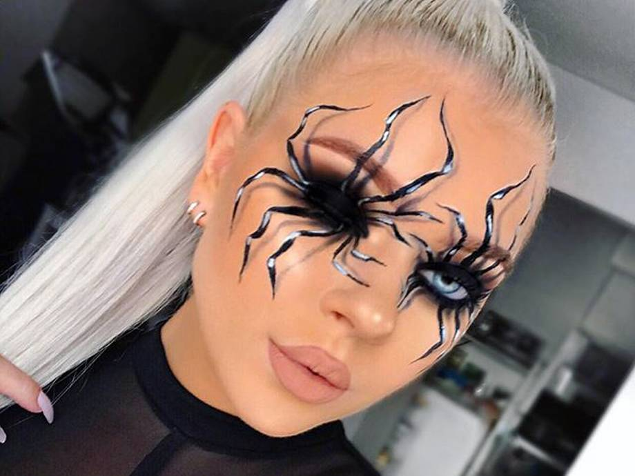 Fix Your Eyes Upon This Halloween Spider Makeup Look