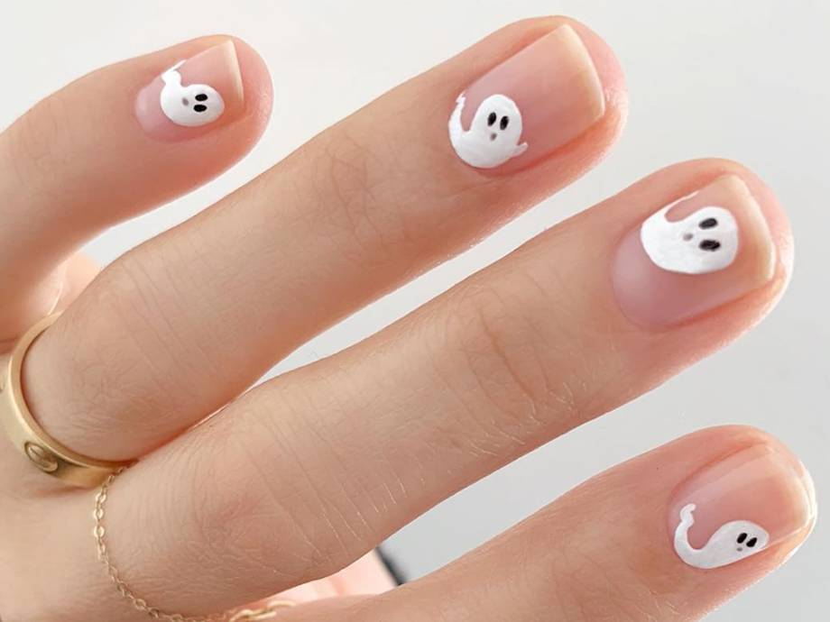 6 Ghost Manicures to DIY if You're Bored on Halloween
