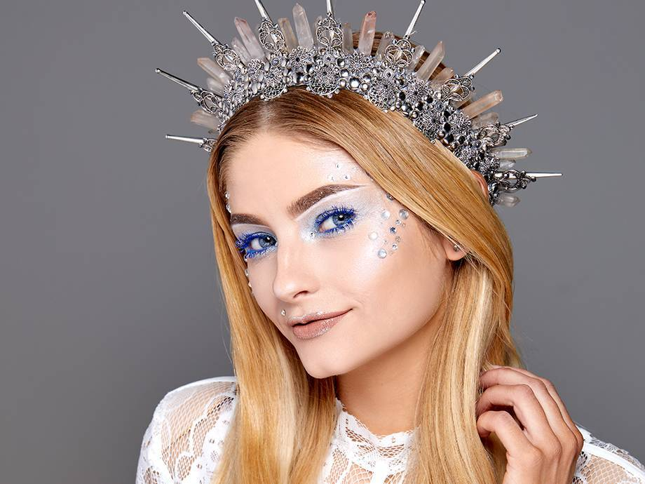Upgrade Your Halloween Look With This Holographic Ice Goddess Makeup Tutorial