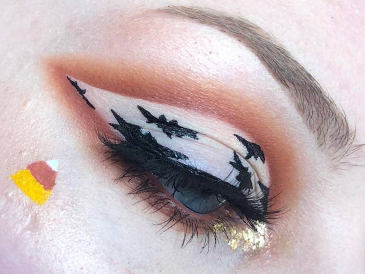 This Halloween Makeup Look Is Blowing Up On Reddit and Hopefully You Like Bats