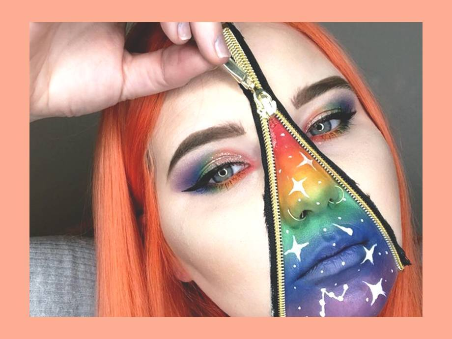 This Unzippered Rainbow Makeup Look Will Blow Your Mind