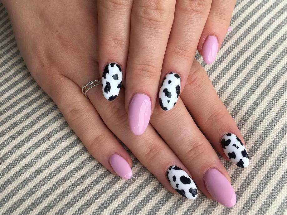 Cow-Print Nails Are Now a Thing and They Look Pretty Damn Chic