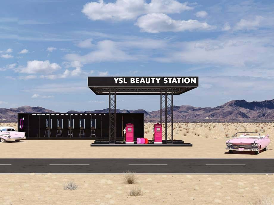 Fill 'Er Up! YSL Created a Beauty-Inspired Gas Station in the Desert