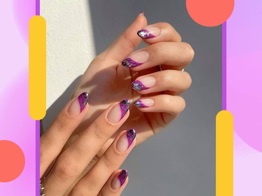 patterned french tips