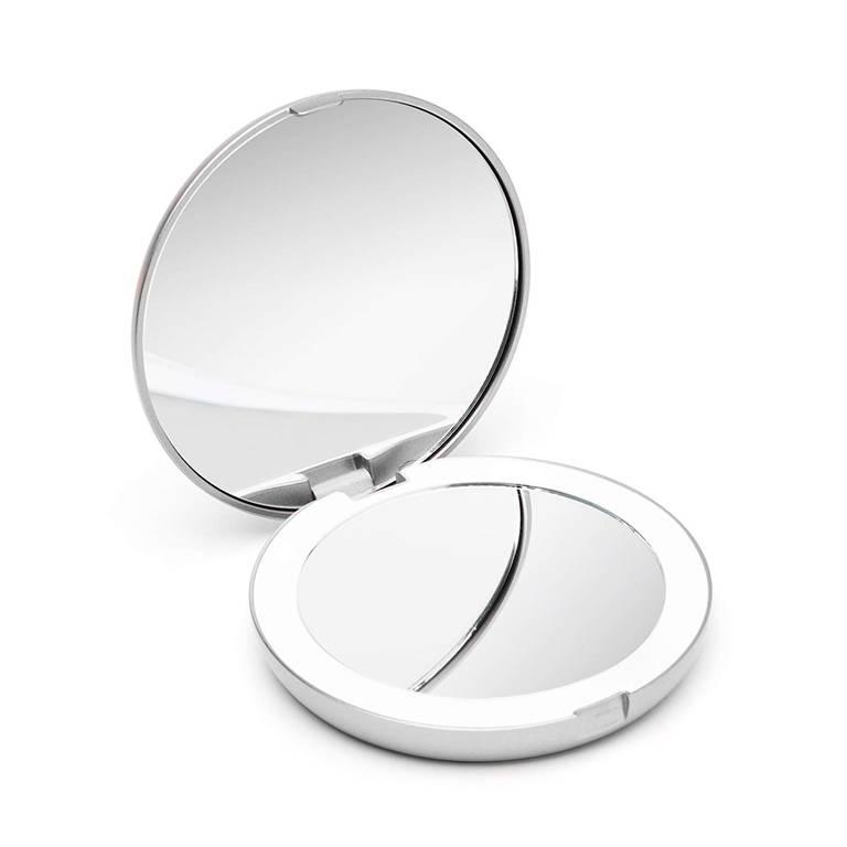 Button Mirror You Can Never Be Too Cute Humorous Handbag Compact Mirror