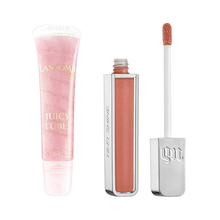 lancome juicy tube, urban decay hi-fi shine