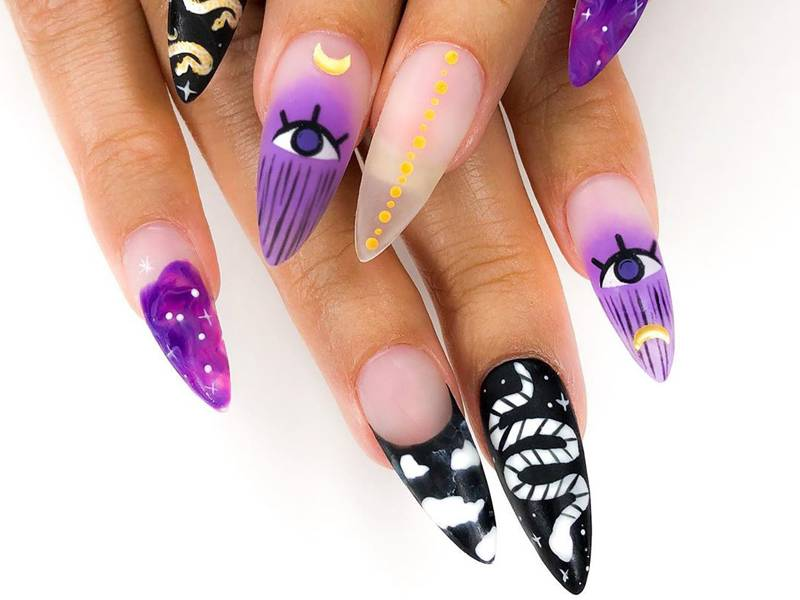 Witchy Halloween Nail Art Looks For Fall 2020 Makeup Com