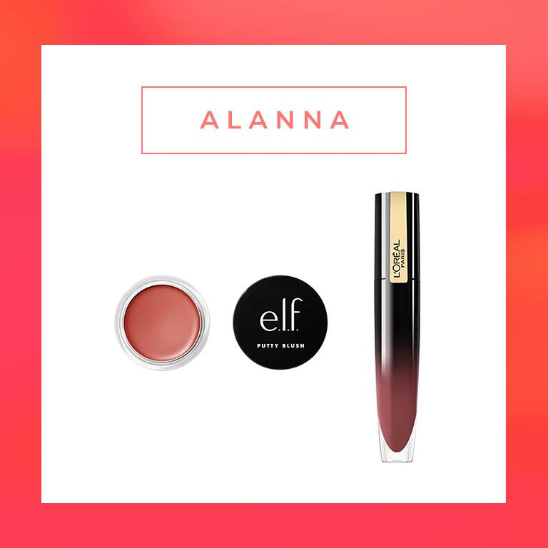 elf putty blush, loreal paris brilliant signature