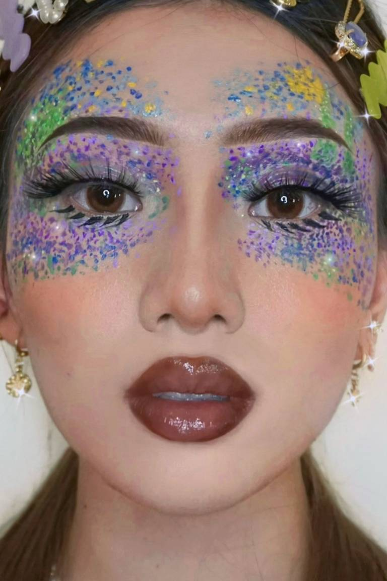 pointillism eye makeup tutorial
