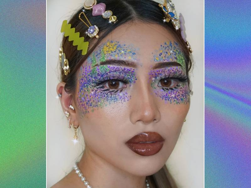 pointillism makeup tutorial