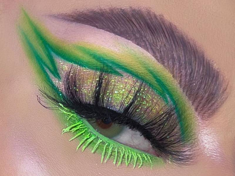 St. Patrick's Day Green Makeup