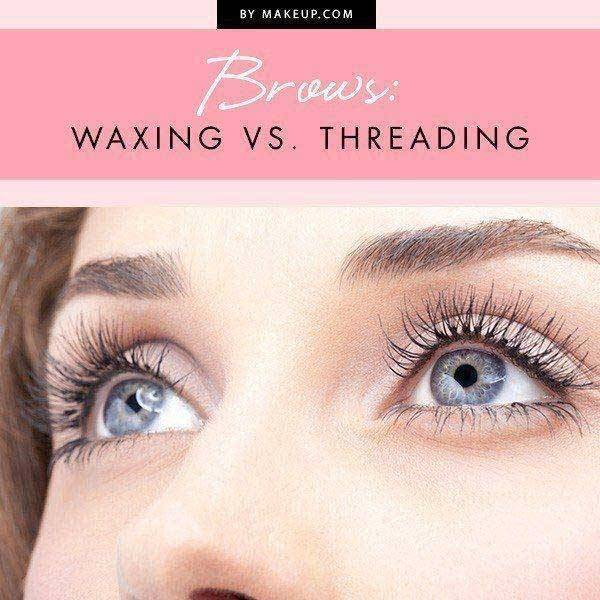 brow waxing and threading